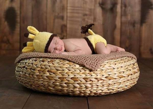 >> Click to Buy << Lovely Yellow Deer Set Newborn Infant Baby Handmade Costume Knitted Crochet Photography Props Newborn Photo Baby Caps Hats #Affiliate