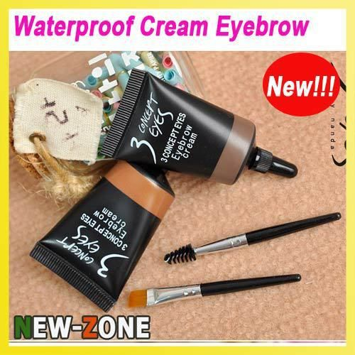 Aliexpress.com : Buy (Min Order 10$) Waterproof Cream Eyebrow Pencil Liquid Eyebrow Makeup/ Eyebrow Powder Pigment With 2 brushes long lasting from Reliable pigment cosmetic suppliers on New Zone-Beauty