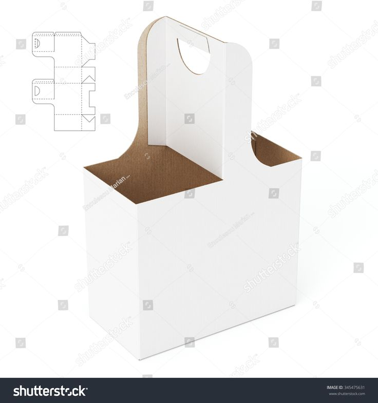 Carriage Box with Die Cut Template