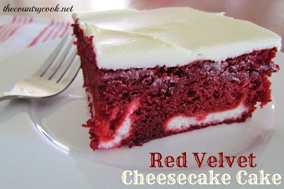 Red Velvet Cheesecake Cake Recipe - The Country Cook & ZipList