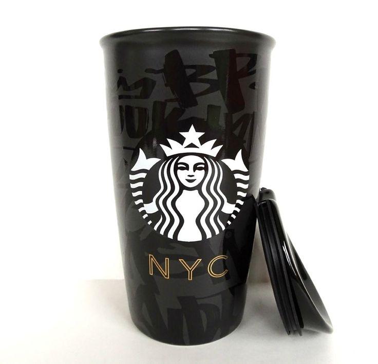 Starbucks NYC New York City Double Wall Insulated Traveler Tumbler Mug Graffiti #Starbucks