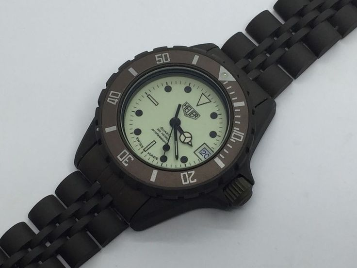 22 best vintage tag heuer 1000 professional watches for sale images on pinterest vintage tags - Heuer dive watch ...