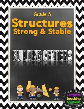 """Highly engaging and ready to go!! Five """"hands-on"""" building centers that allow students to apply their knowledge of stability and strength in structures as they build various structures and communicate their knowledge of understanding of scientific concepts. 3 of the centers require students to build different structures using various materials, 1 center is a technology center and the other center allows students to communicate their knowledge through a writing task.Perfect for Grade 3…"""