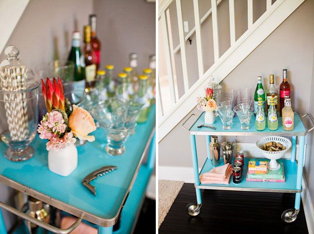 12 Ways to Create a Beautiful Bar at Home | Brit + Co. (carello)