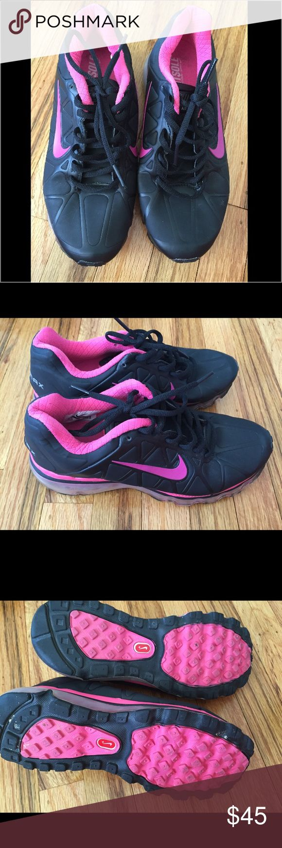 Nike Air Max Black and Pink Sneakers. Like New! Nike Air Max Black and Pink Sneakers. Like New! Only worn 2-3 times. Size 6.5. Nike Shoes Sneakers