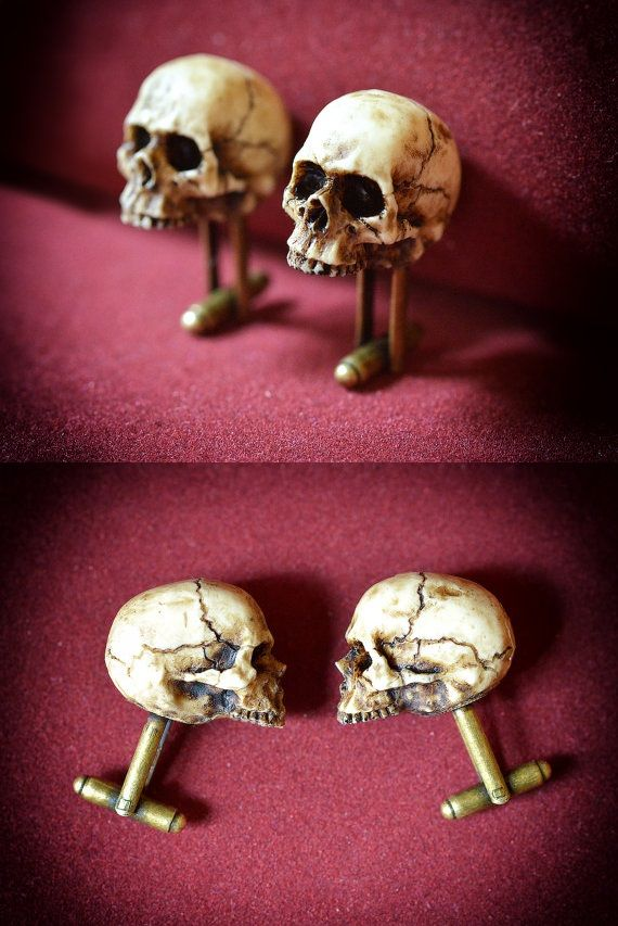 Skull Cufflinks - Skullspiration.com - skull designs, art, fashion and more