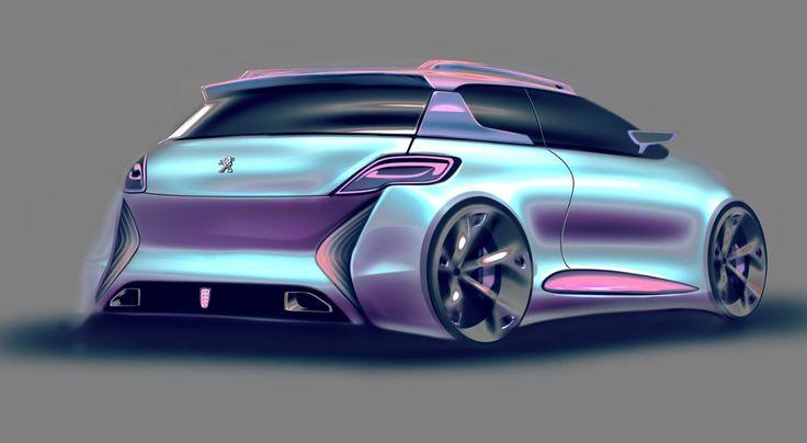 peugeot 206 concept sketch photoshop automotive design Alessandro_Zanotti