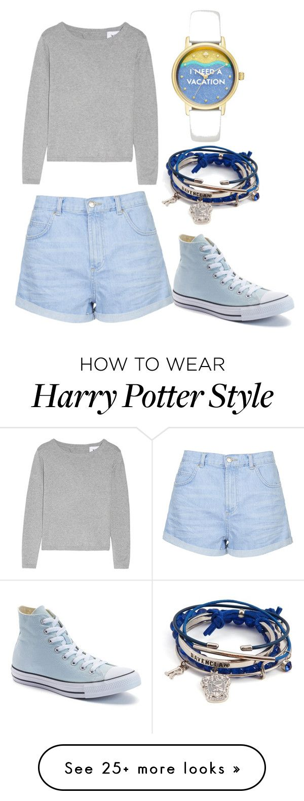 """Untitled #17"" by chaoticstars on Polyvore featuring Topshop, Kate Spade and Converse"