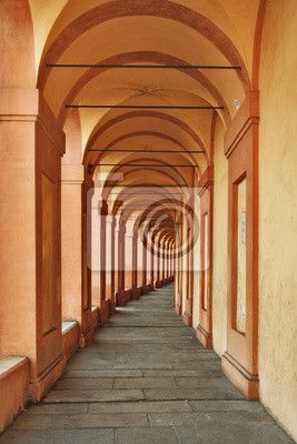 Fotobehang Portiek van San Luca, Bologna 153x230cm €116