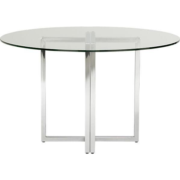 Round Glass Kitchen Table best 25+ glass round dining table ideas on pinterest | glass