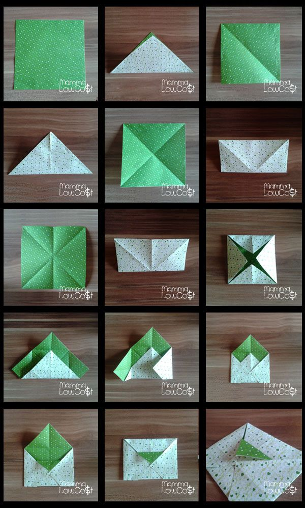 Buste e bustine origami | Mamma low-cost