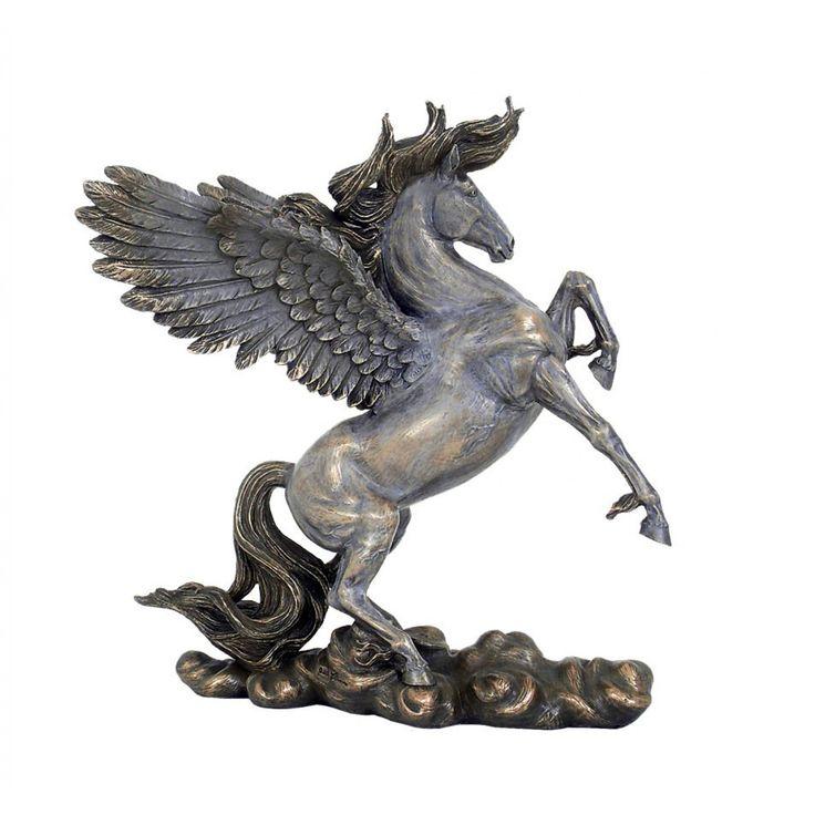 Calul inaripat 'Pegasus', statueta din bronz