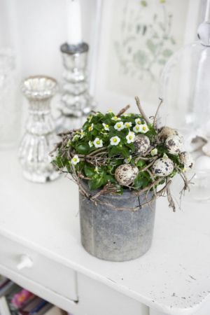Cute way to decorate a plant for a centerpiece or a gift