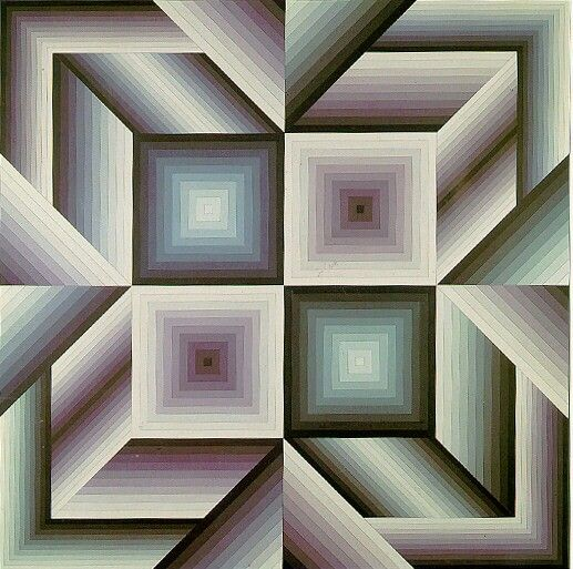 332 best images about victor vasarely on pinterest for Geometric illusion art
