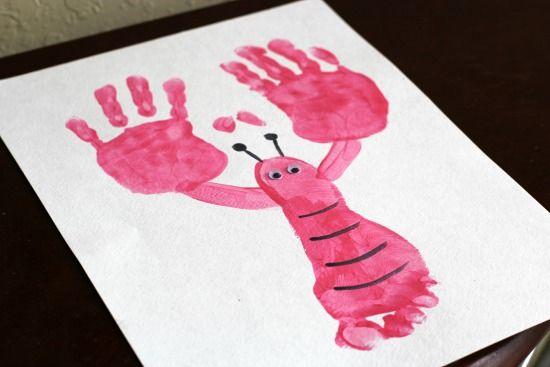 Handprint & Footprint Lobster Craft