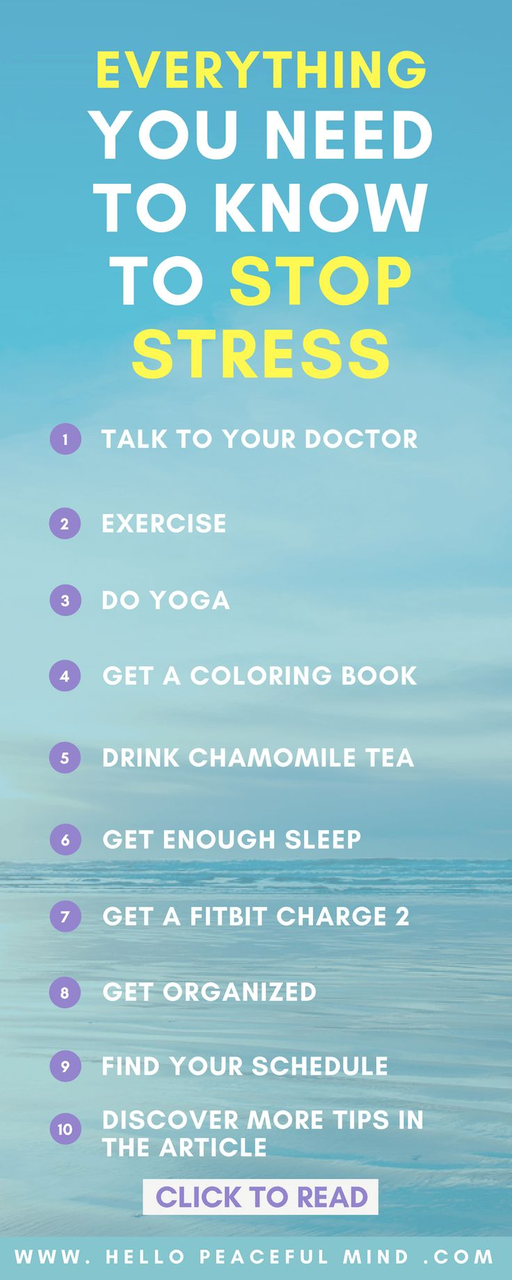 LOVE this article with more that 15 actionable tips to reduce stress! Read it at www.HelloPeacefulMind.com