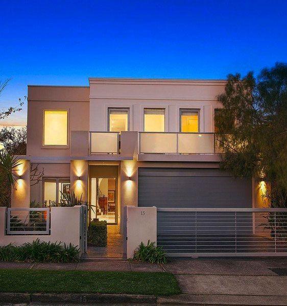 Simple facade op o garagem modern architecture for Minimalist house facade