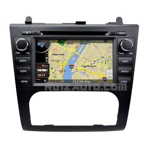 2007-2012 Nissan Altima In-Dash GPS Navigation Radio DVD Bluetooth Hands-free High Definition Touch Screen AV Receiver CD Player Stereo SD USB FM AM iPod-Ready iPhone-Ready OEM Fit Replacement Deck w/ Copyrighted NNG iGo Navteq Updatable Maps Astrium GEE-6411S for Automatic Air Conditioning