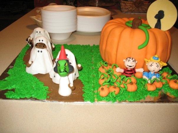 Charlie Brown The Great Pumpkin Halloween Holiday Birthday Cake