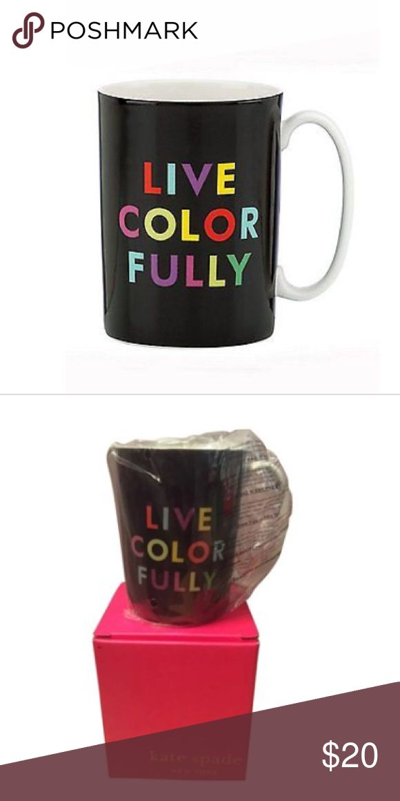 Kate Spade ♠️ Live Colorfully Mug New with tags and box live colorfully Kate Spade kate spade Accessories