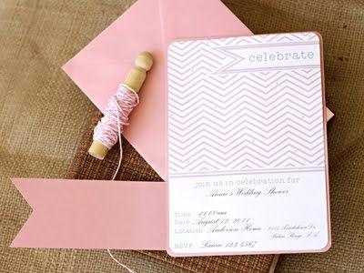 16 FREE Party #Invitation #printables-love the light pink chevron