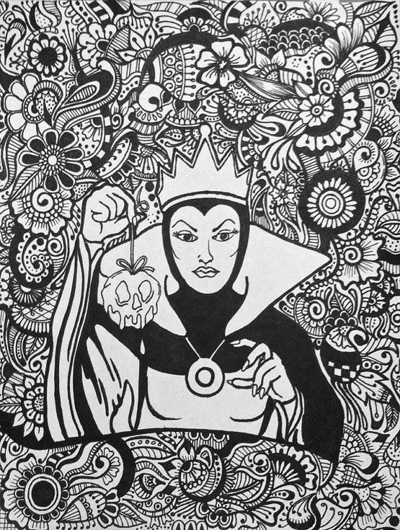 Disney Zentangle Coloring Pages : Images about disney lover on pinterest
