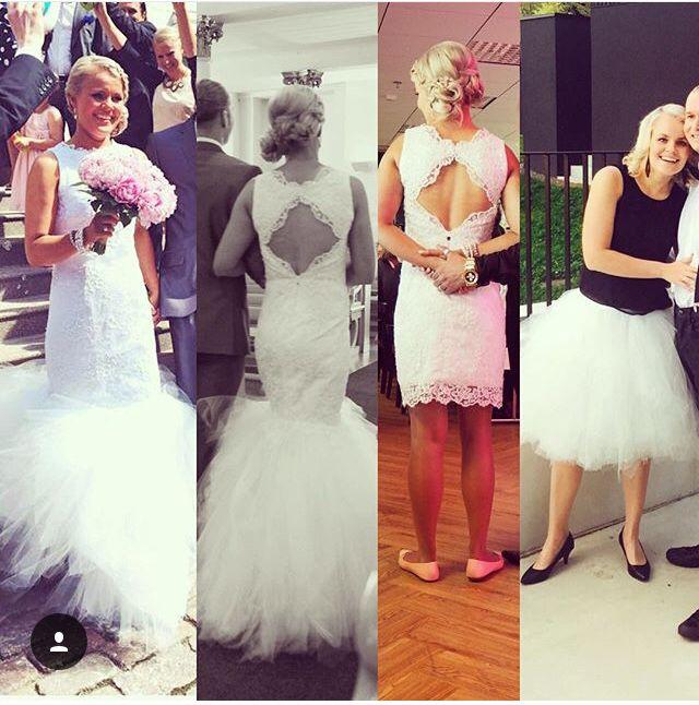 Pitsinen hääpuku tyllihelmalla #kolme eri tyyliä yhdellä mekolla #Eurokangas #I love dresses