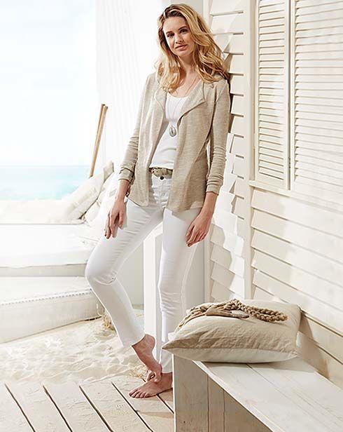Letní móda: ležérní a lehoučká v bílé barvě - v Tchibo