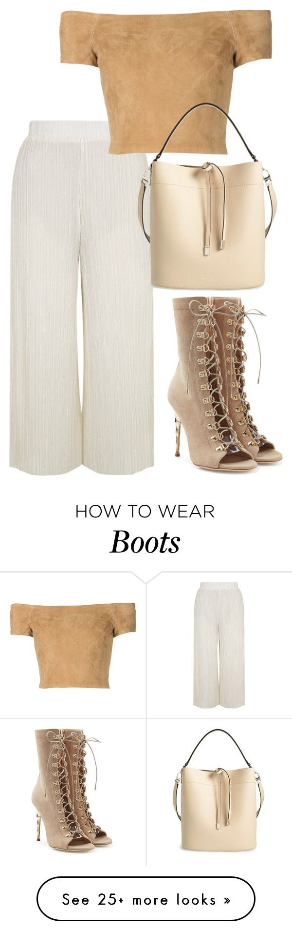 """""""Untitled #3404"""" by bubbles-wardrobe on Polyvore featuring Balmain, Topshop, Alice + Olivia and Michael Kors"""