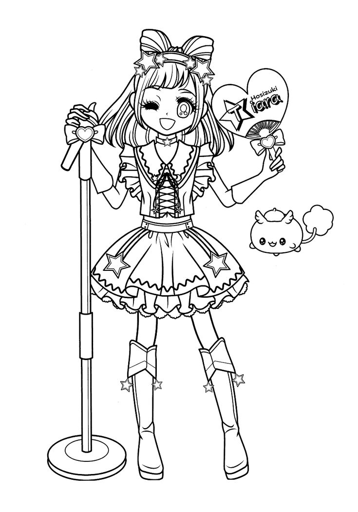 825 best anime  shojo coloring book images on Pinterest