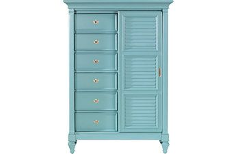 Awesome Teal Chests of Drawers for the Spare Bedroom and Chet's stuff - Color is Ben Moore Majestic Blue 2051-40