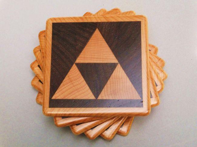 need these!: Ideas, Gift, Living Room, Wood Triforce, Triforce Coasters, Video Games, Zelda Triforce, Legend Of Zelda