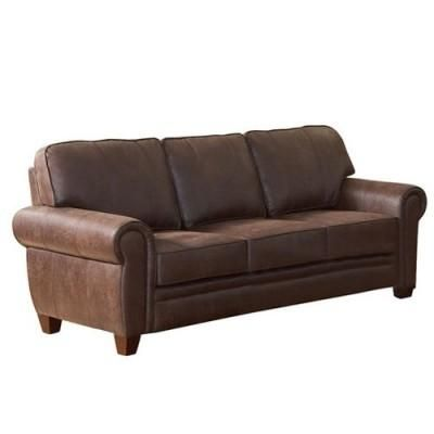 Cheap Couch: This faux leather couch is much easier to clean than a real leather one, but looks just as great in your home.