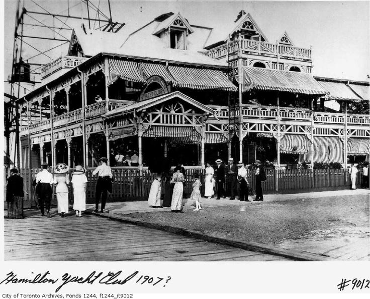 ๑ Nineteen Fourteen ๑ historical happenings, fashion, art & style from a century ago - Hamilton Yacht Club, Burlington Beach ca. 1914