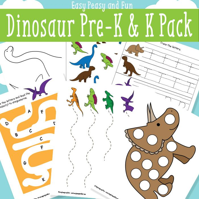 Dinosaur Printables for Preschool - Easy Peasy and Fun