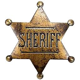 Classic Old Western Sheriff Badge