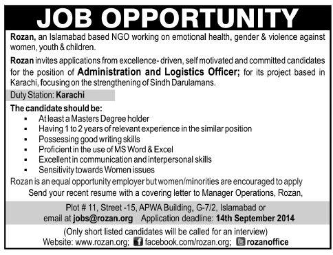 Great 19 Best Job Adds Images On Pinterest Pakistan, Career   Logistics Officer  Job Description