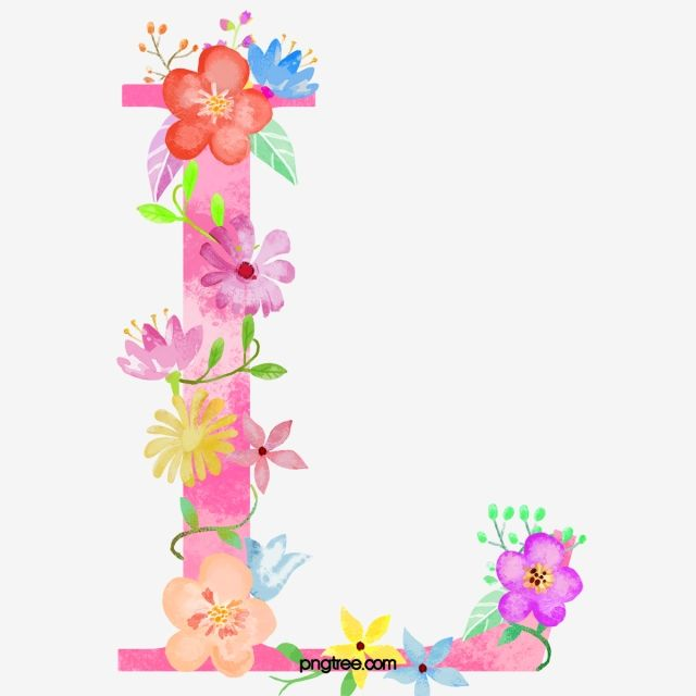 Flowers Letter L Letter Clipart Flower Letter Png Transparent Clipart Image And Psd File For Free Download Watercolor Flower Background Lettering Flower Letters