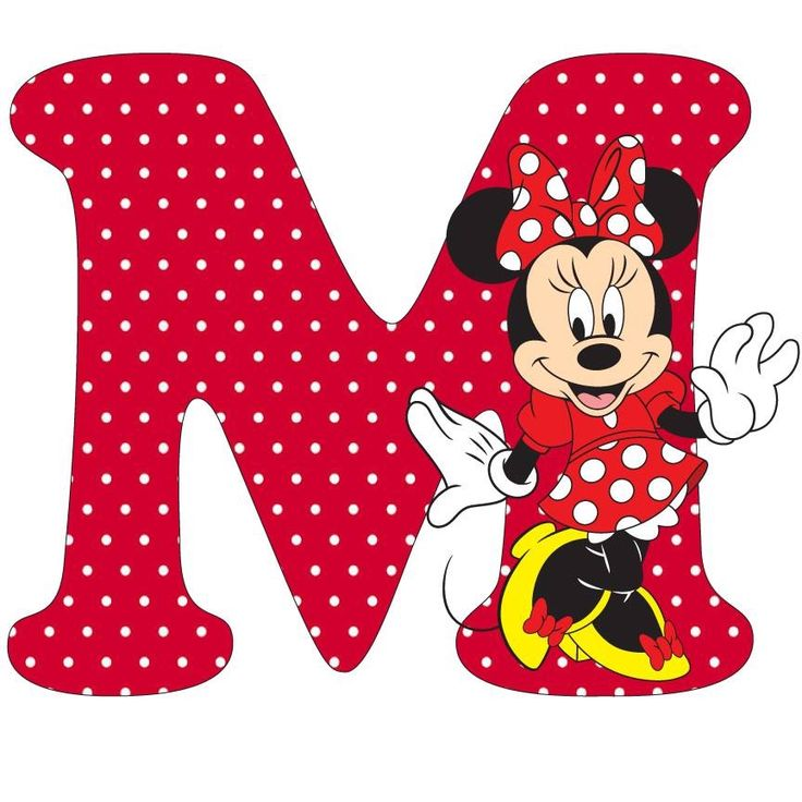 Minnie Mouse Letter M