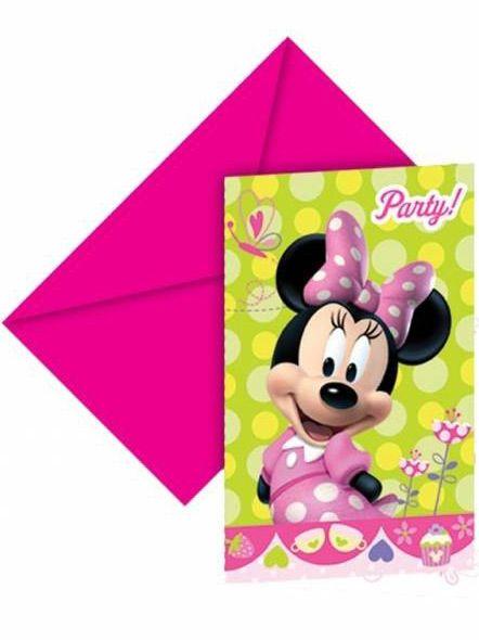 6 Inviti di compleanno Minnie Bow-Tique su VegaooParty, negozio di articoli per feste. Scopri il maggior catalogo di addobbi e decorazioni per feste del web,  sempre al miglior prezzo!