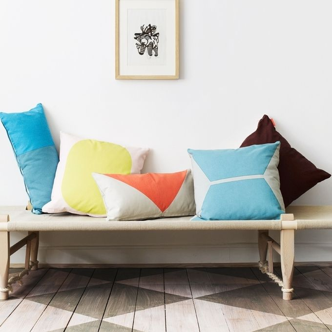 paint shapes on cushions