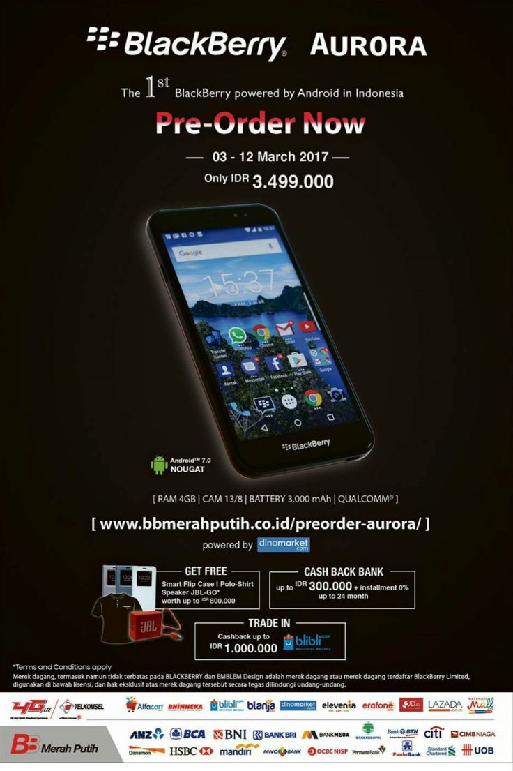 BlackBerry Aurora. The 1st BlackBerry powered by Android in Indonesia.
