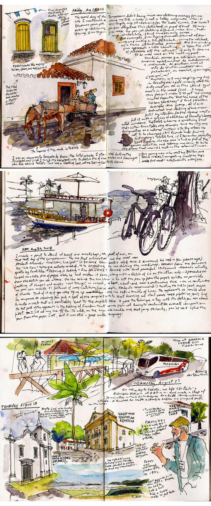 urbansketchers :: By Gabi Campanario in Paraty, Brazil #urban #sketch #travel #journal http://www.urbansketchers.org/2015/01/flashback-to-paraty.html?m=1