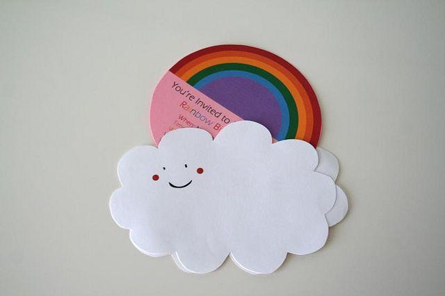 Rainbow birthday party invites by verymom, via Flickr