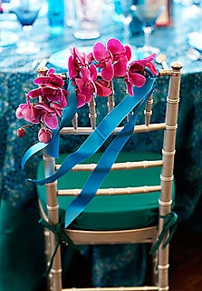 chair decoration orchid