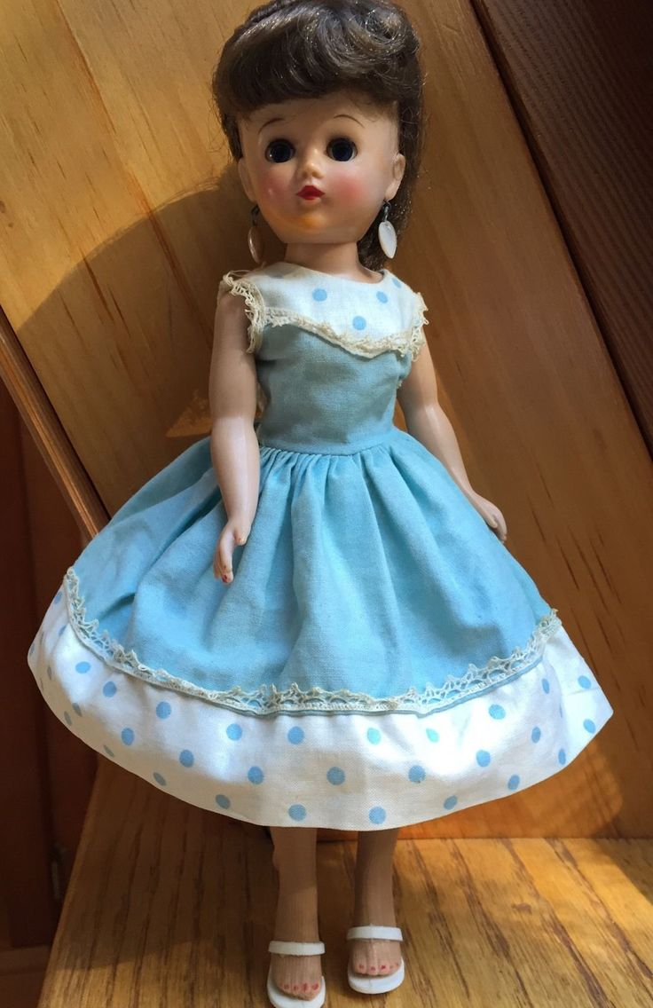 Vogue Doll Inc Jill Doll In Blue And White Party Dress