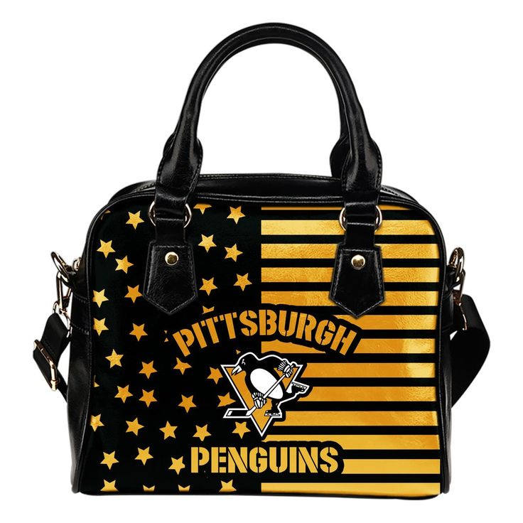 Twinkle Star With Line Pittsburgh Penguins Shoulder Handbags – Best Funny Store