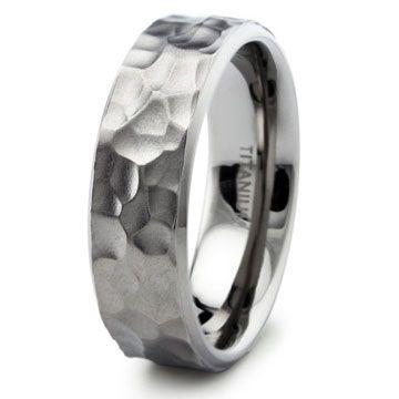 mens titanium wedding band hammered skillfully made titanium wedding band featuring a hammered satin
