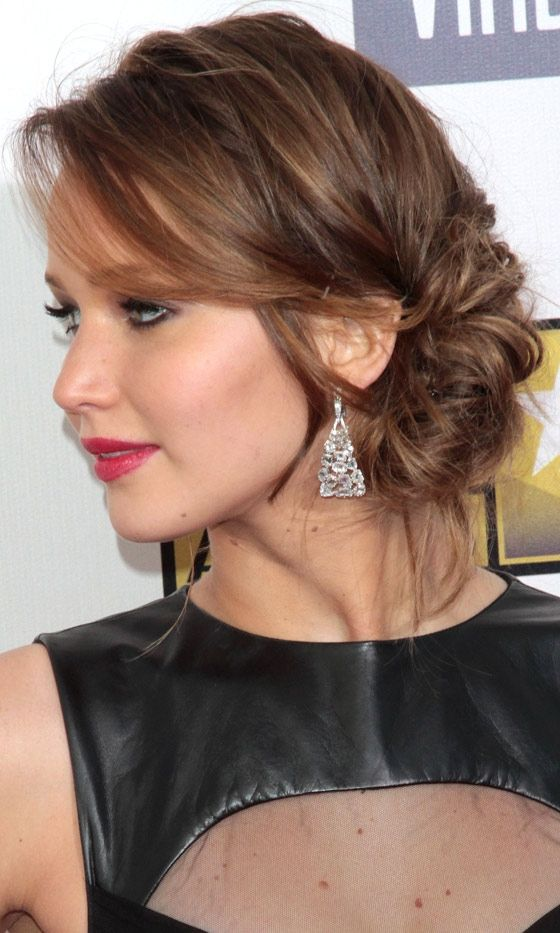 The Messy Side Chignon Hairstyle... Love it!!! It's cute!!