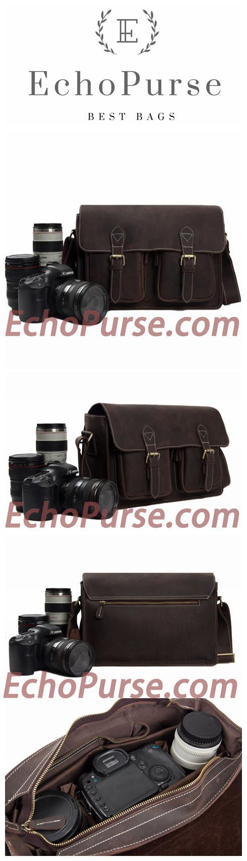 Antique Genuine Leather DSLR Camera Pouch, Messenger Bag, Camera Shoulder Bag 6915